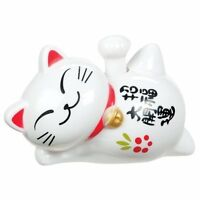 Solar Lucky Cat Of Good Fortune - Solar Powered Waving Maneki Neko NEW