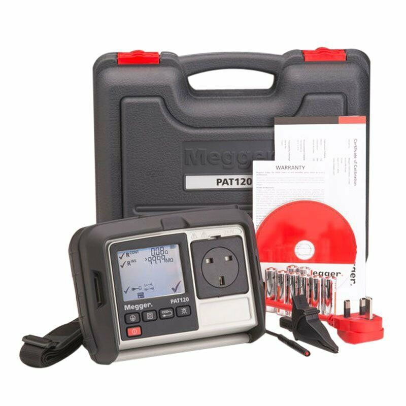 Hand Held Battery Tester : New megger pat hand held battery operated portable