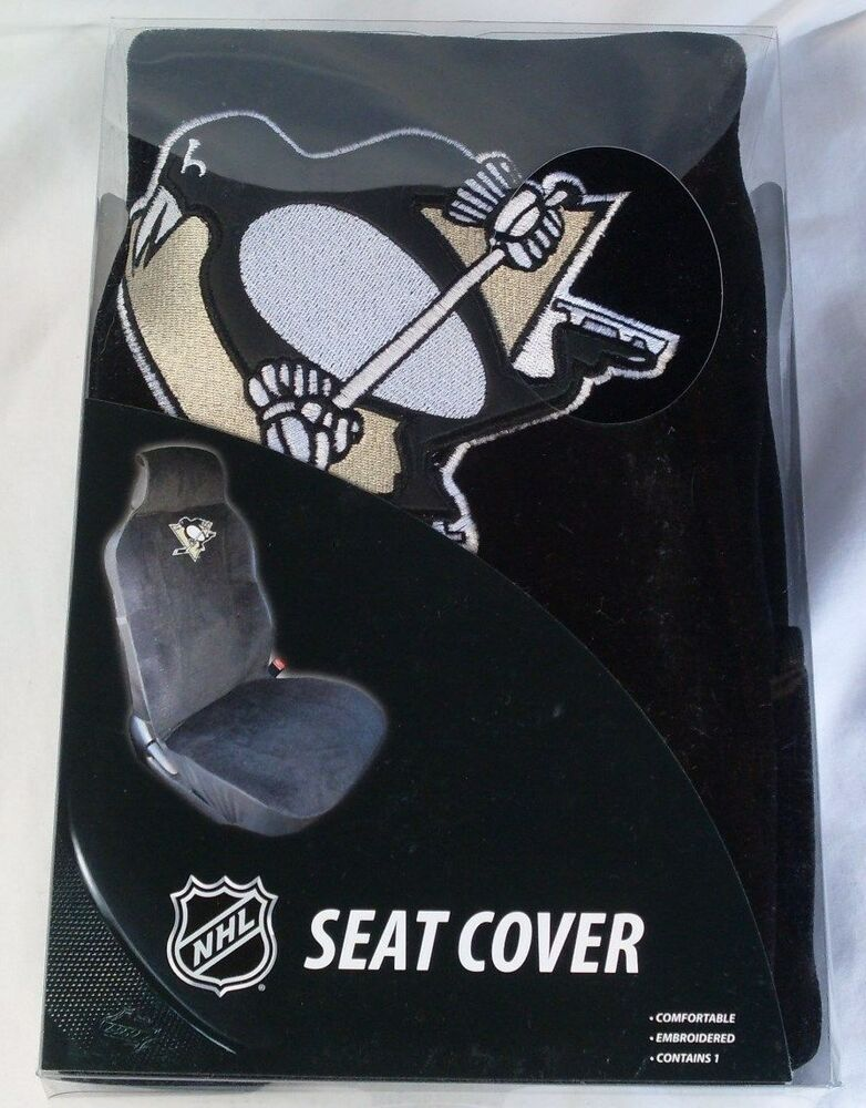 nhl nib car seat cover by fremont die pittsburgh penguins ebay. Black Bedroom Furniture Sets. Home Design Ideas