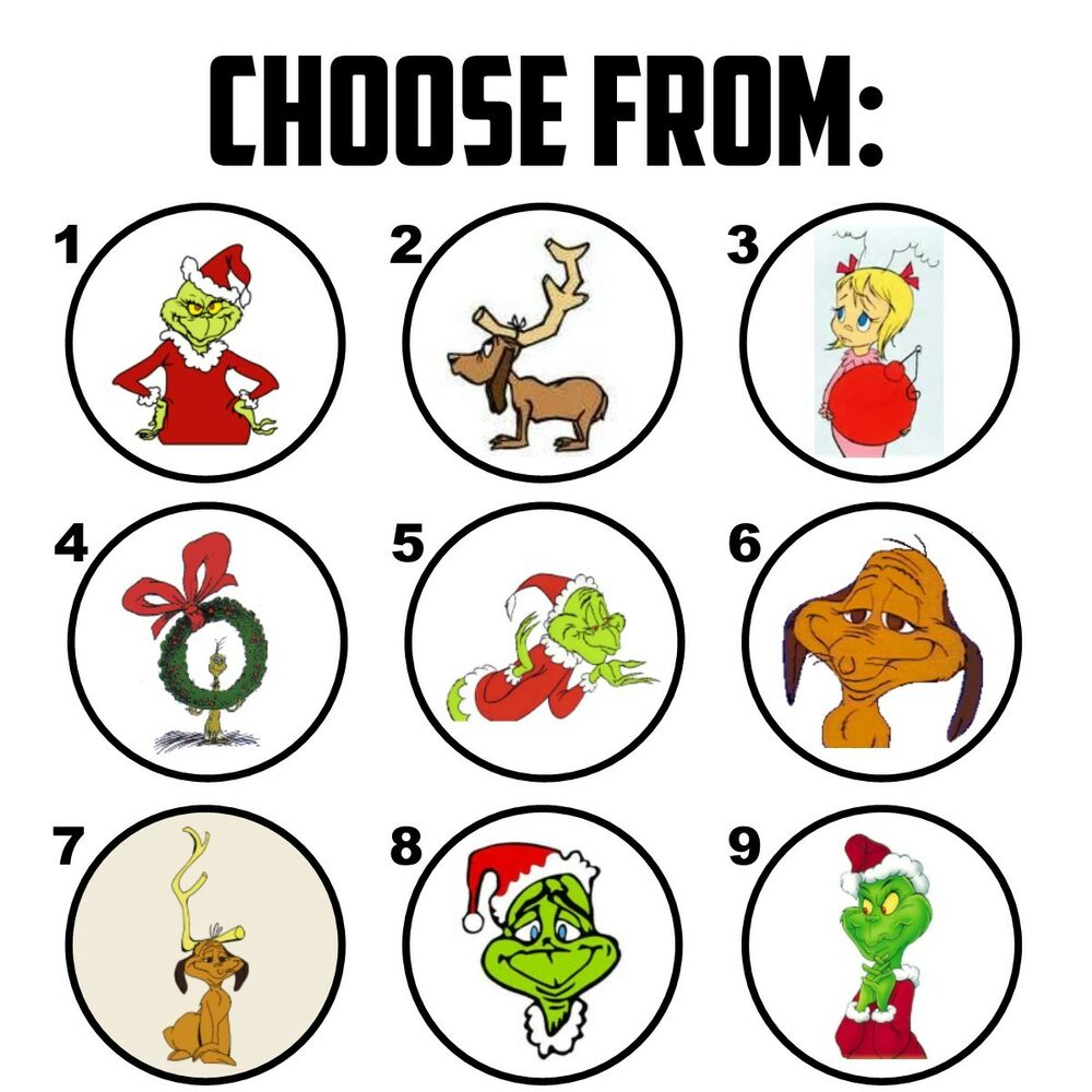 63 How The Grinch Stole Christmas Envelope Seals Labels Stickers 1 ...