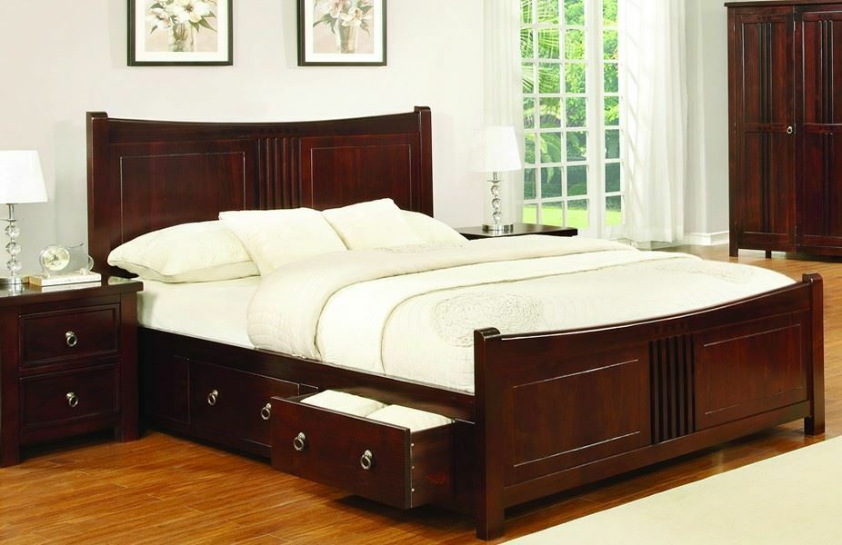 Sweet Dreams Curlew Mahogany Drawer Bed Frame 150cm King