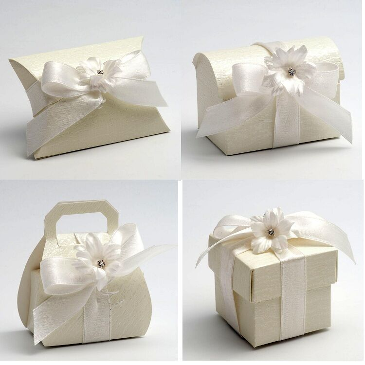 Wedding Gift Boxes Ebay : ... DIY Wedding Party Favour Gift Sweet Boxes - Ardesia Ivory Range eBay
