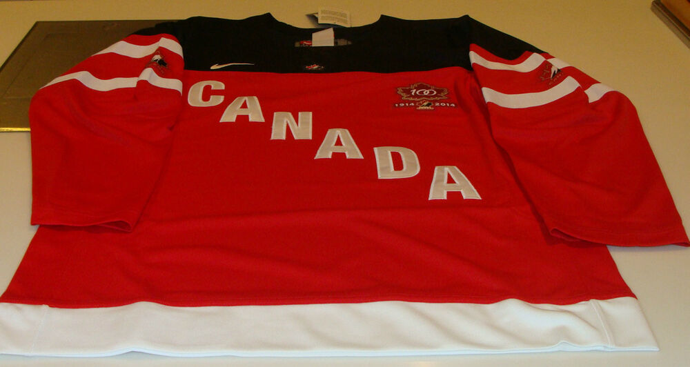 Team Canada 2015 World Juniors XS Hockey Jersey IIHF 100th Anniversary  f93812abc10
