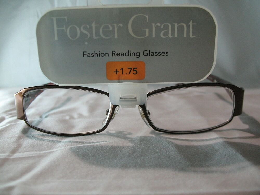 8028a01904a Details about Foster Grant Darlene Brown Tortoise Shell Reading Glasses  +1.75 2.00 2.25 2.75