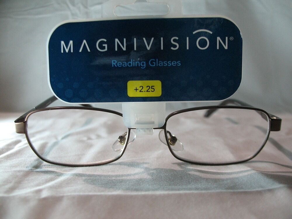 magnivision mens brown bronze colored reading