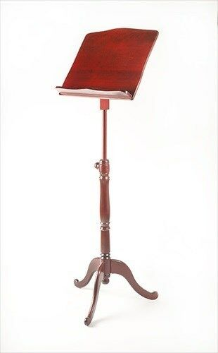 ems overture wooden sheet music stand mahogany new ebay. Black Bedroom Furniture Sets. Home Design Ideas
