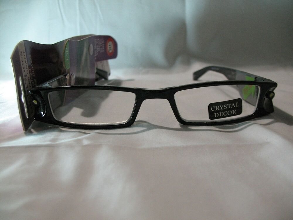 a0825141468 Details about Foster Grant Light Specs Lady Liberty Black Night Reading  Glasses 1.50 2.00 2.50