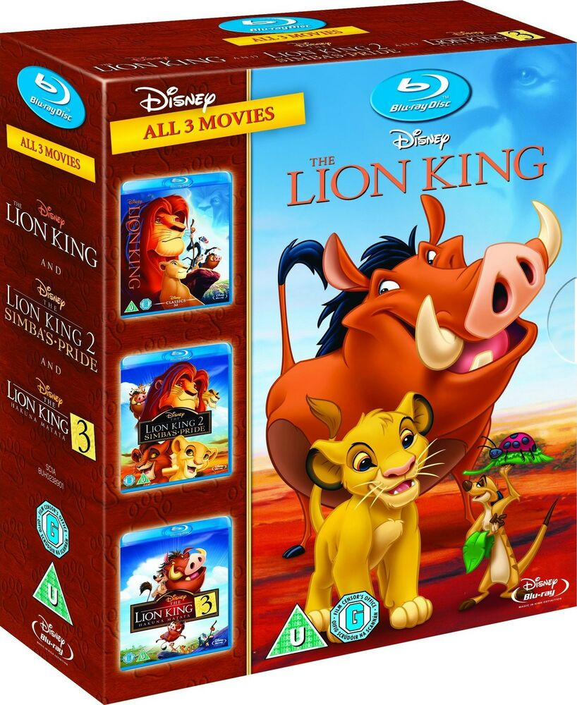 THE LION KING TRILOGY 3-MOVIE COLLECTION BLU-RAY BOX SET