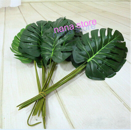 ARTIFICIAL Monstera BRANCH TREE SPRAY FAKE TURTLE LEAF ...