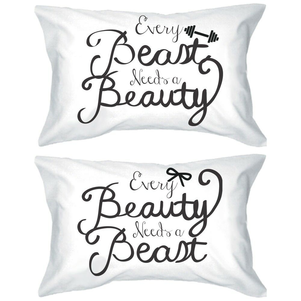 His and Hers Matching Pillowcases - Beauty and Beast Romantic Pillowcase Designs eBay