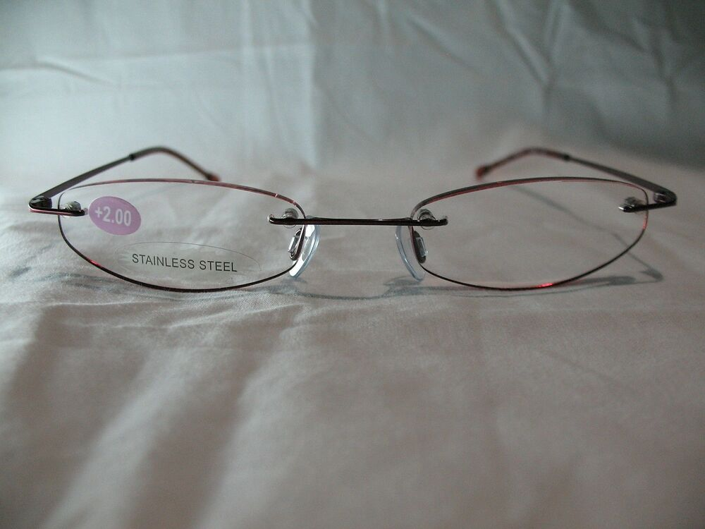 insight ruby rimless reading glasses 1 00 1 25 1 50 2