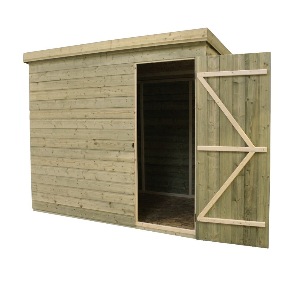 GARDEN SHED 8X6 TONGUE AND GROOVE PENT SHED PRESSURE ...