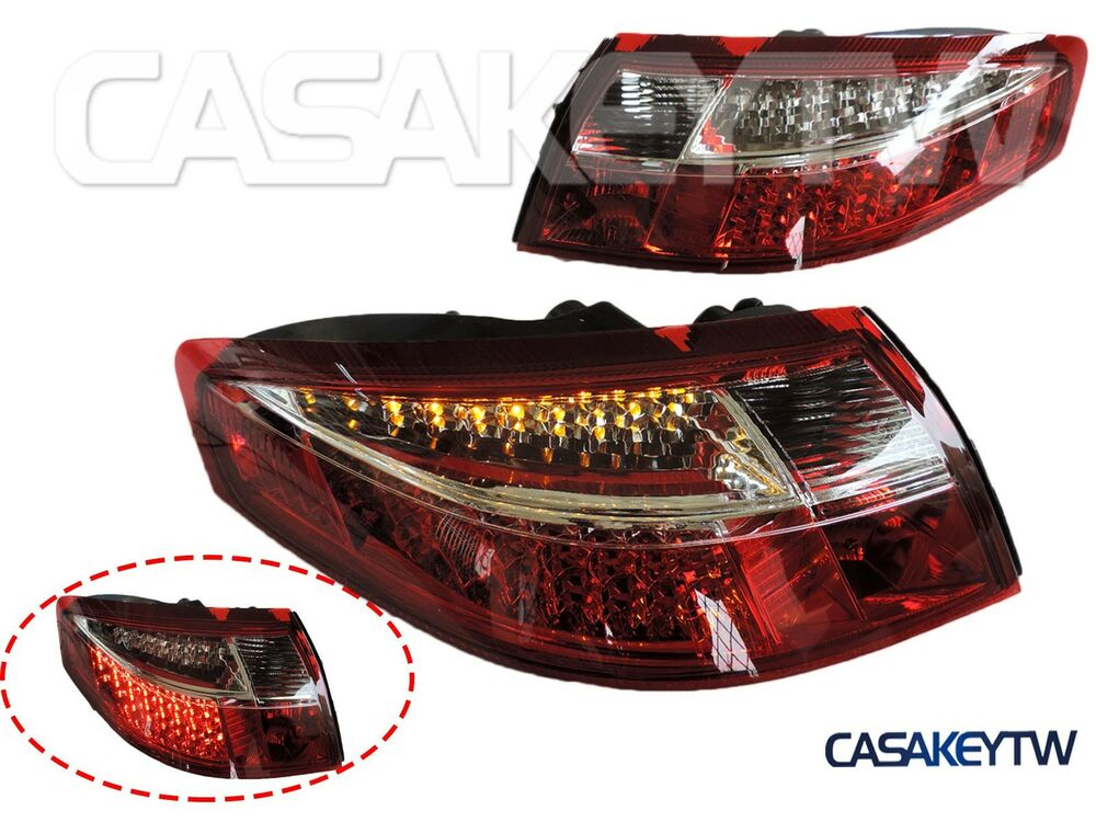 1999 2004 Porsche 911 996 Led Tail Lights Red Clear One