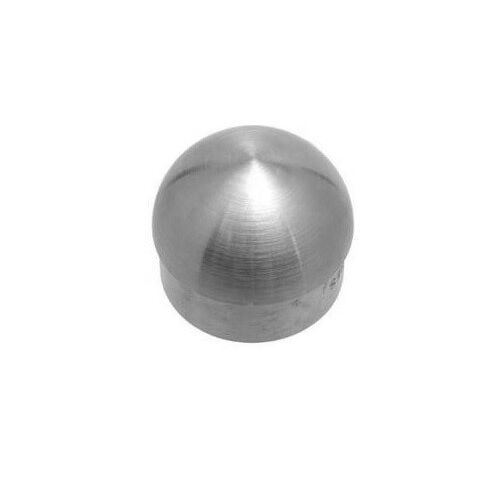 Domed Flat End Cap Brushed Satin Stainless Steel 1 5