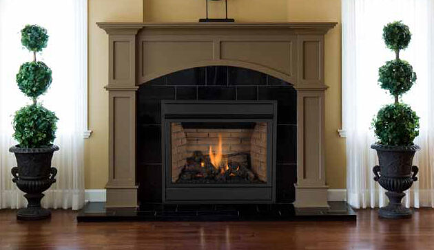 Superior Pro Series 35 Direct Vent Gas Fireplace Top Rear Combo Front View Ebay