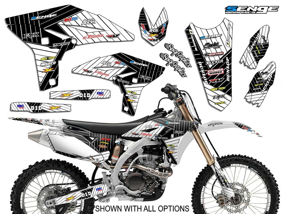 2006 2007 yz 250f 450f graphics kit yz250f yz450f yamaha for Sticker deco