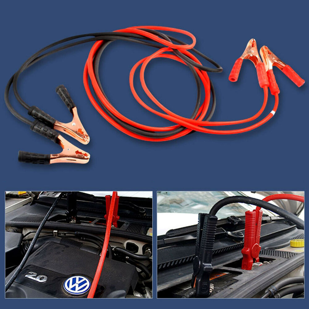 how to use cables to jump start car