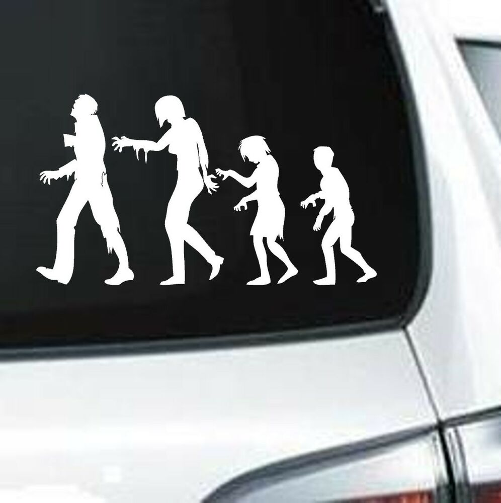 A126 Zombie Family Halloween Vinyl Decal For Car Truck Ebay