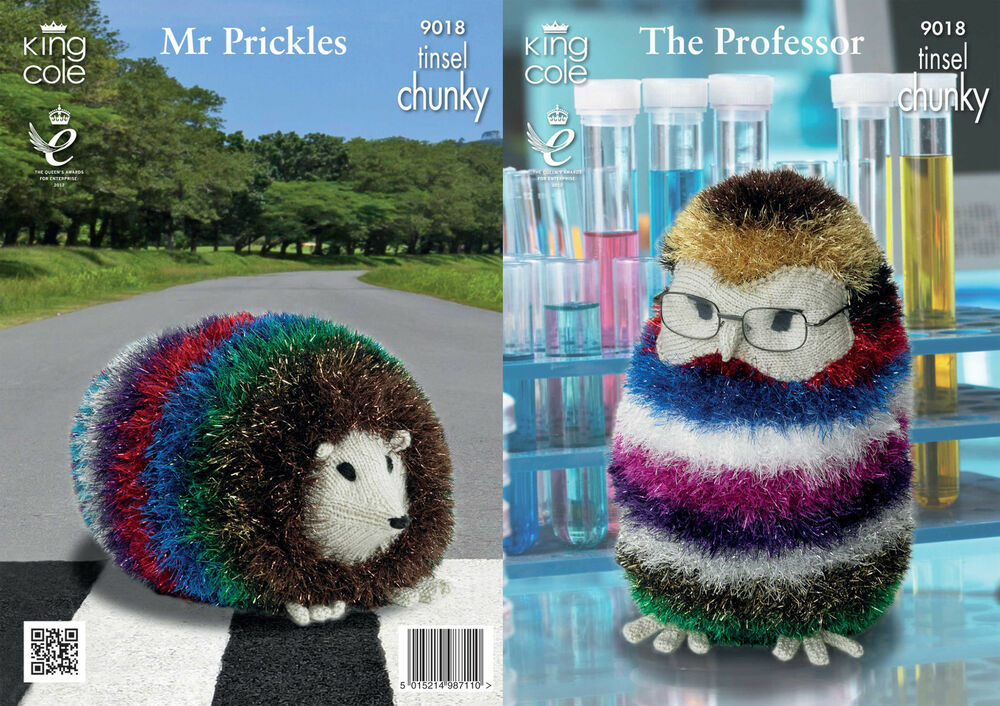 Tinsel Hedgehog Knitting Pattern Free : Tinsel Chunky Knitting Pattern King Cole The Professor Mr ...
