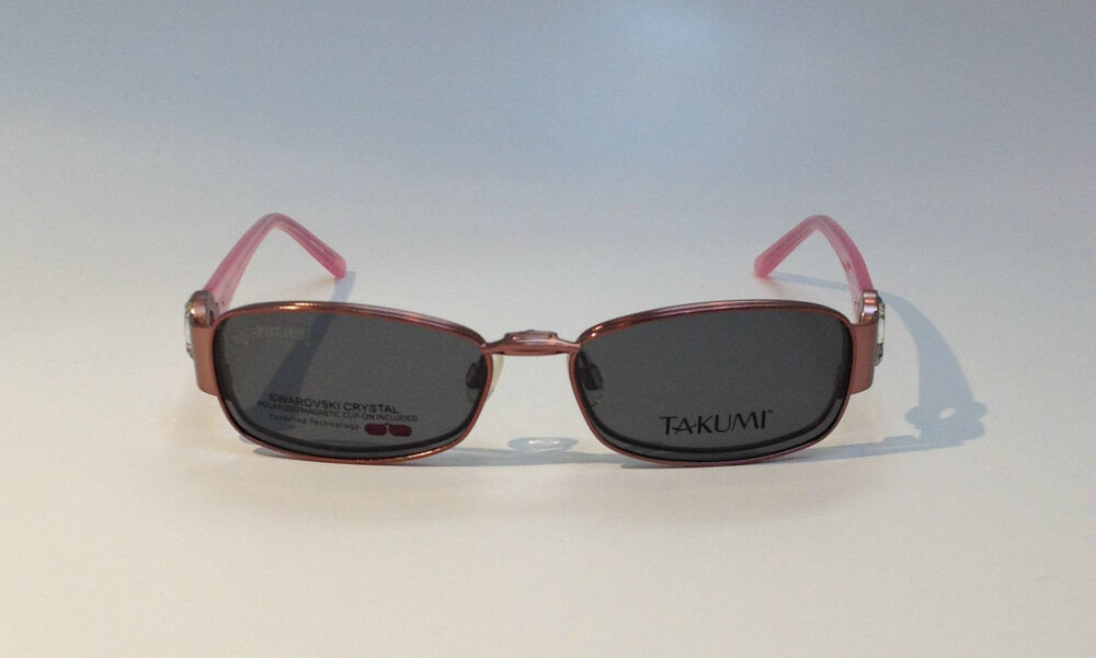 Eyeglass Frames With Magnetic Sunglass Clips : TAKUMI Magnetic CLIP-ON Womens Eyeglasses T9777 NEW! eBay