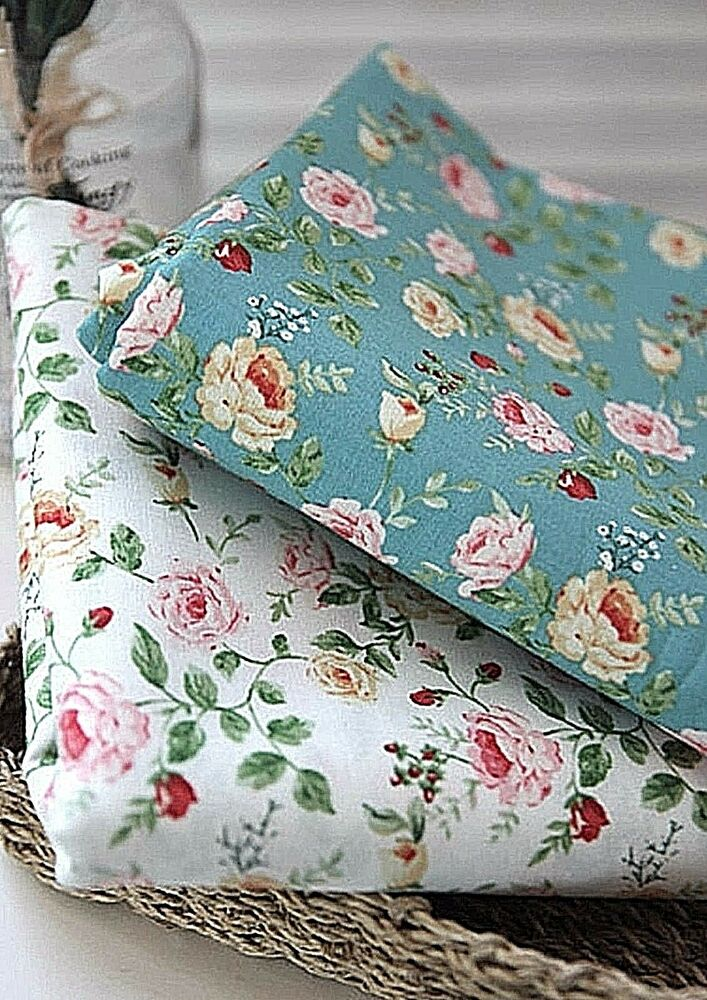 By half yard floral roses 100 cotton fabric remnants rose for Fabric remnants