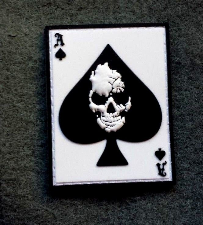 ACE OF SPADES DEATH CARD MOTORCYCLE JACKET PVC RUBBER