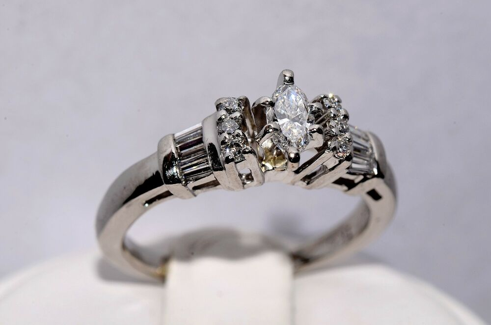 antique engagement platinum bridal ring beautiful