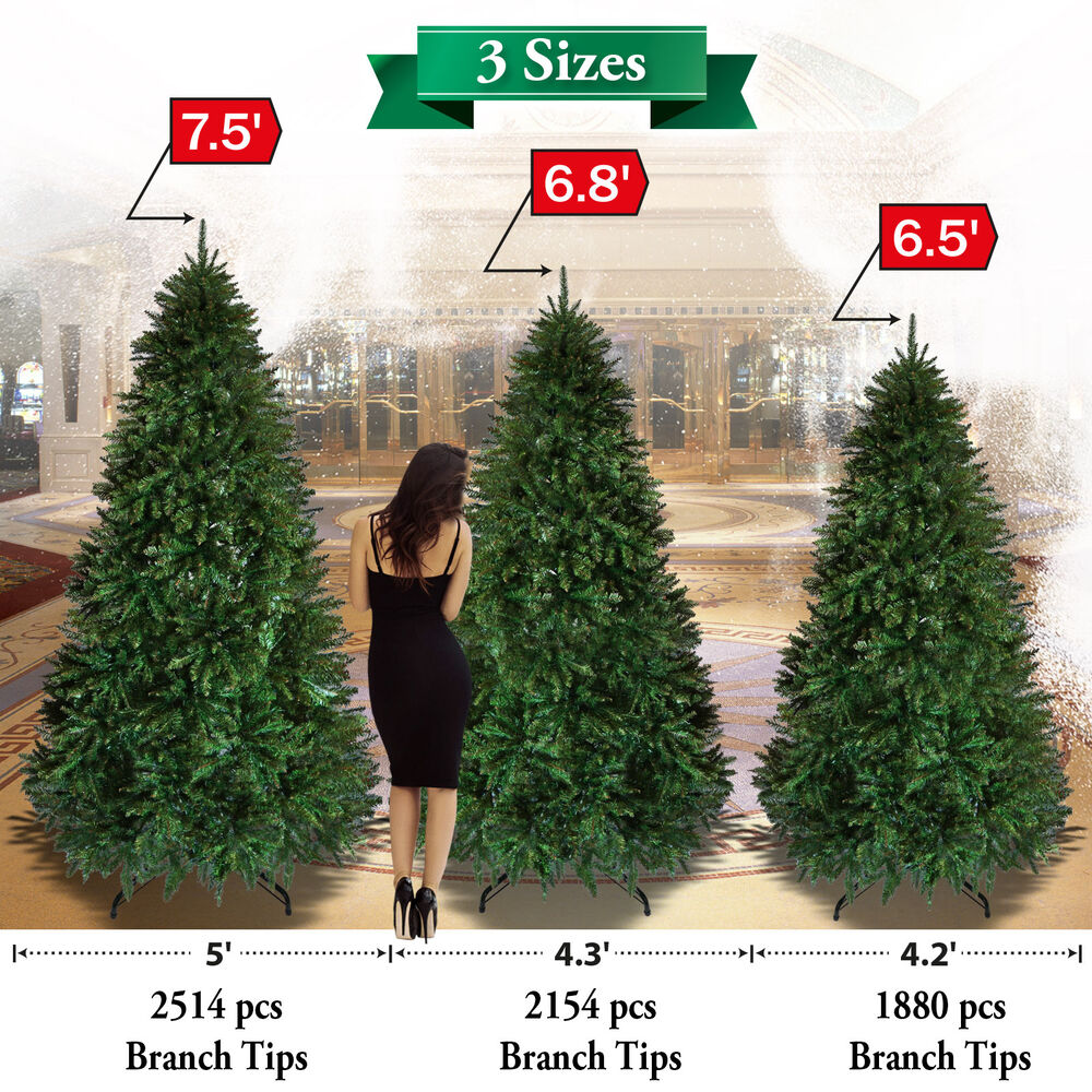 Christmas Tree 5 6 7 7 5 7 9ft Steel Base Decorate
