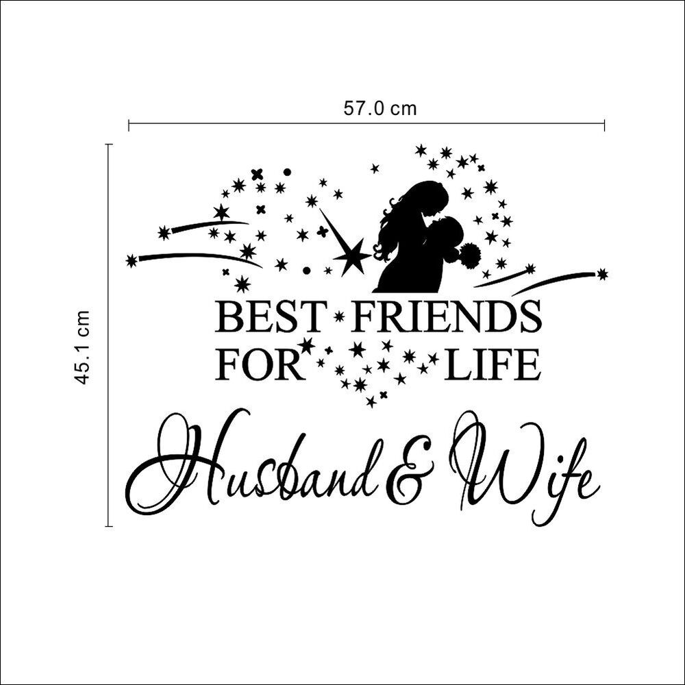DIY BEST FRIENDS FOR LIFE HUSBAND & WIFE Wall Art Decal