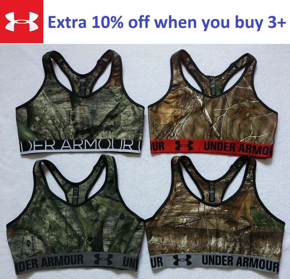 aa54b16f71a42 NEW Under Armour Women Camo Sports Bra Top Gym Fitness Yoga Size L ...