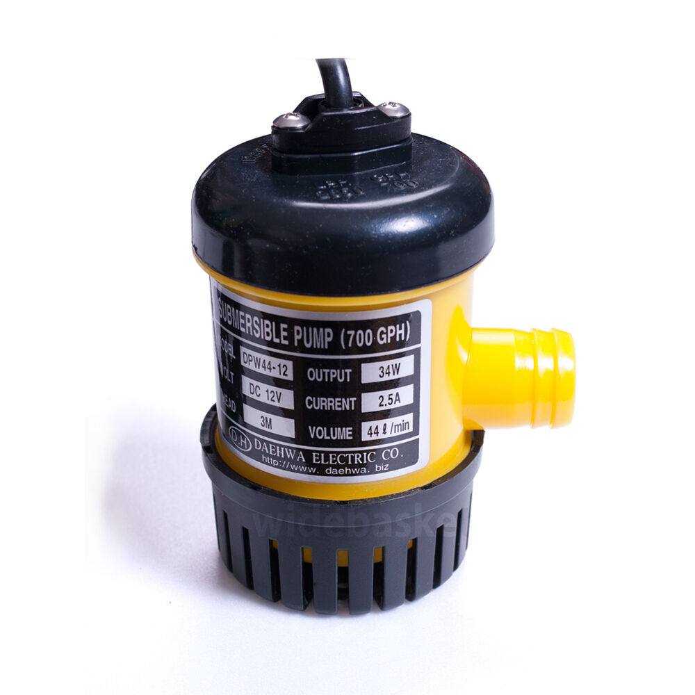 Dpw44 12 dc 12v 34w small submersible water pump 700gph for Small water fountain pump