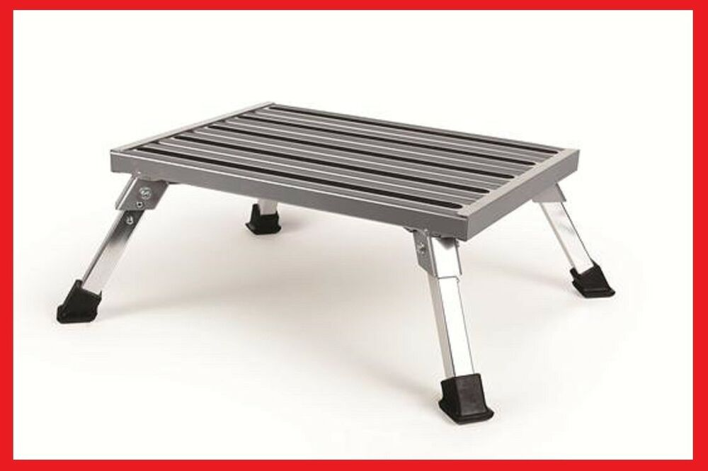 Rv Step Stool One Step Foldable Legs 19 Quot X14 5 Quot Aluminum