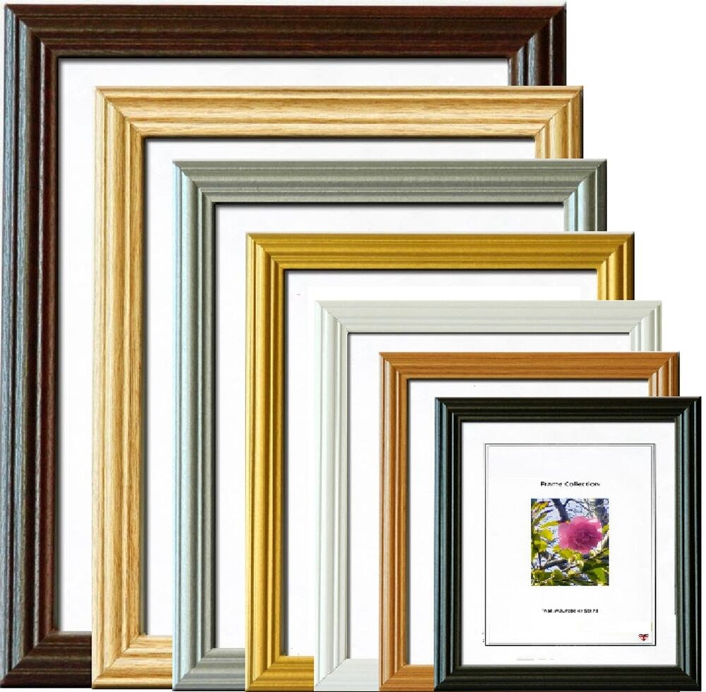 photo picture poster frame wall hanging wooden home wall decoration frames ebay. Black Bedroom Furniture Sets. Home Design Ideas
