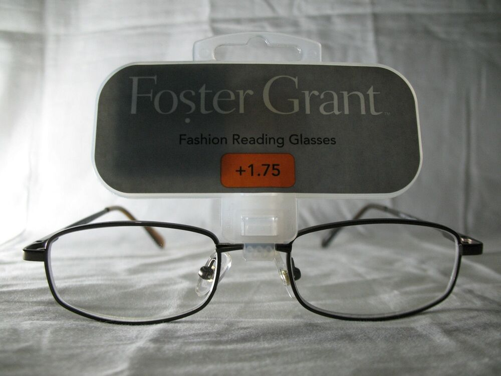foster grant council brown fashion reading glasses 1 75 2