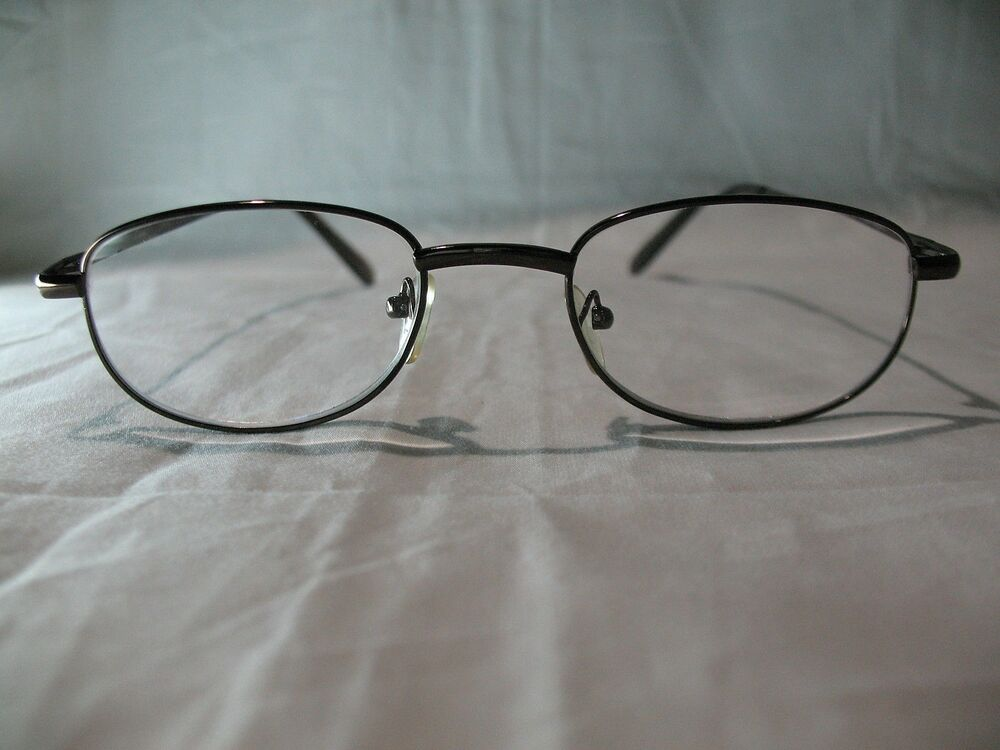 foster grant spare pair brown oval reading glasses 1 25 1