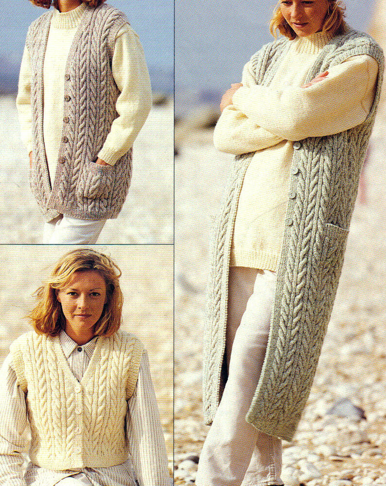 VINTAGE KNITTING PATTERNS WOMENS CARDIGANS, JACKETS, JUMPERS SWEATERS ET...