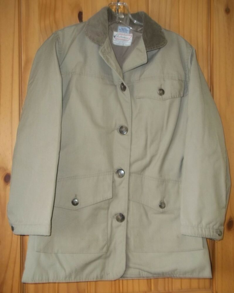 Sears roebuck ted williams vintage khaki coat for active for Sears dress shirts sale