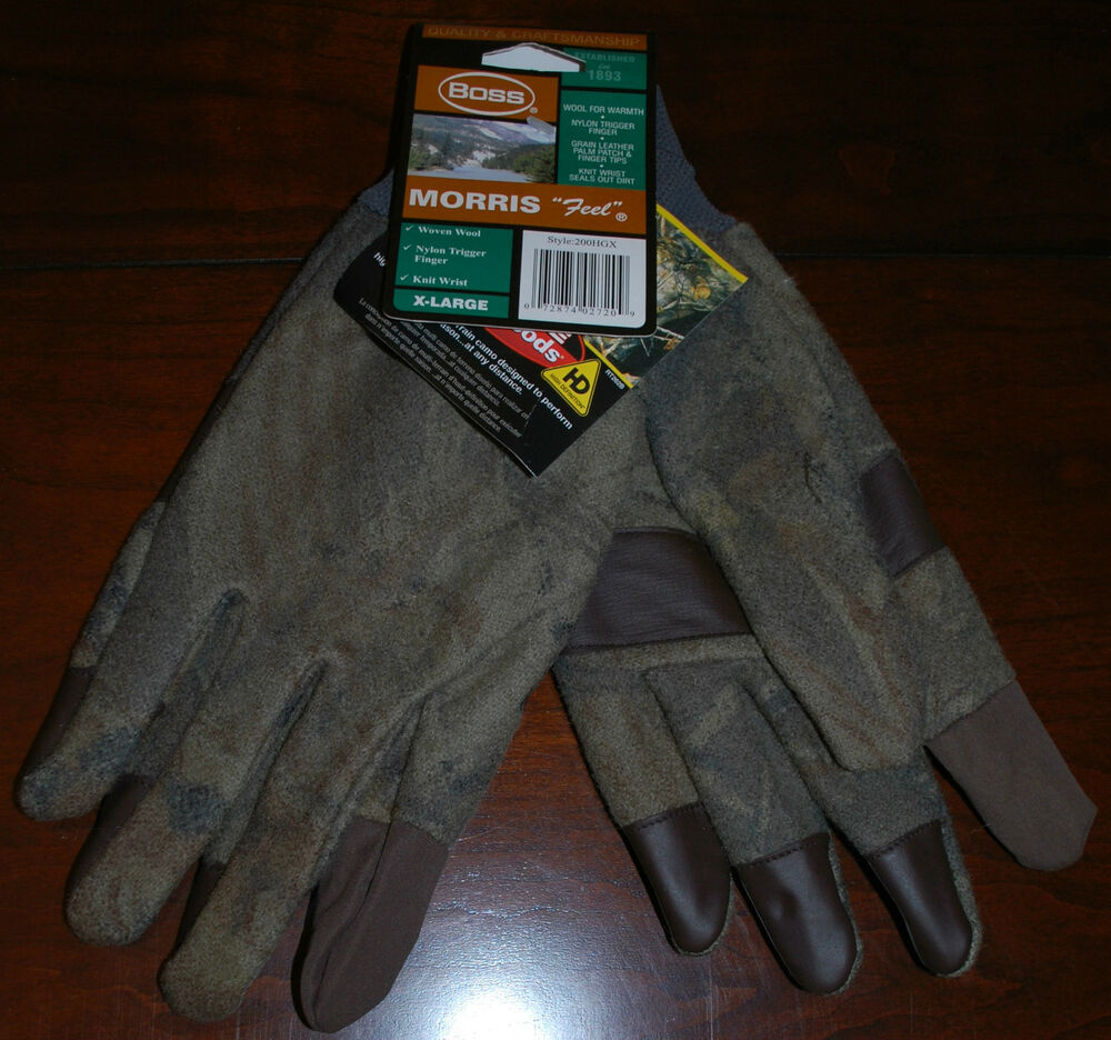 Brand New Boss Realtree Hardwoods Morris Feel Wool Gloves