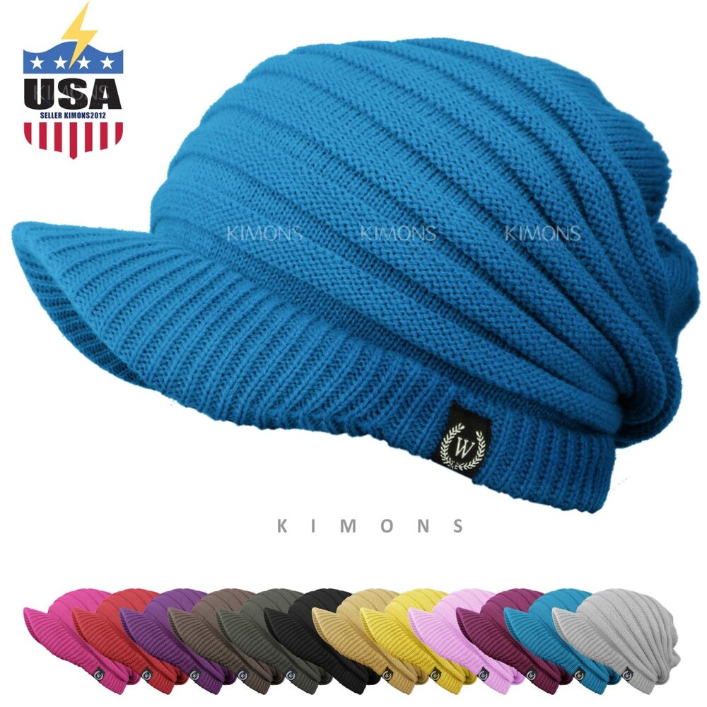 s visor cable knit slouchy baggy beanie oversize winter
