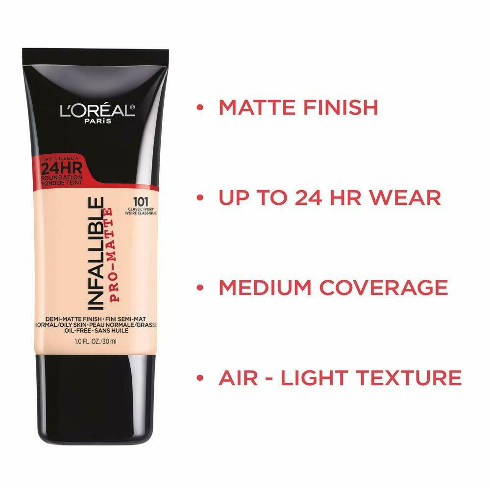 (1) Loreal Paris Infallible Pro-Matte 24Hr Foundation, You Choose!  | eBay