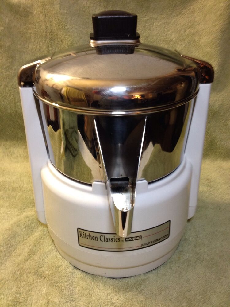 Vtg Waring Juice Extractor 11je38 Fruit Vegetable Juicer
