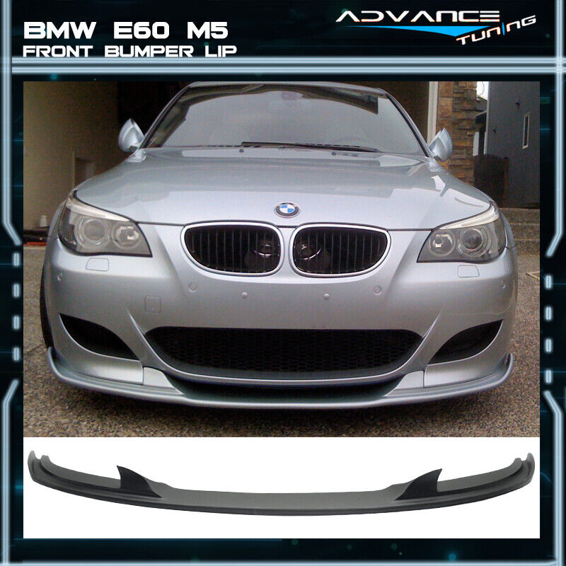 06 10 bmw e60 m5 only h style front bumper lip spoiler pu ebay. Black Bedroom Furniture Sets. Home Design Ideas