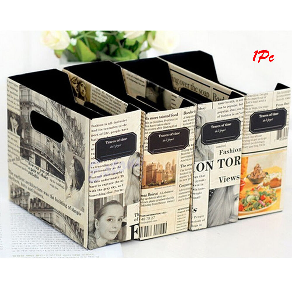desk stationery diy paper board newspaper storage box. Black Bedroom Furniture Sets. Home Design Ideas