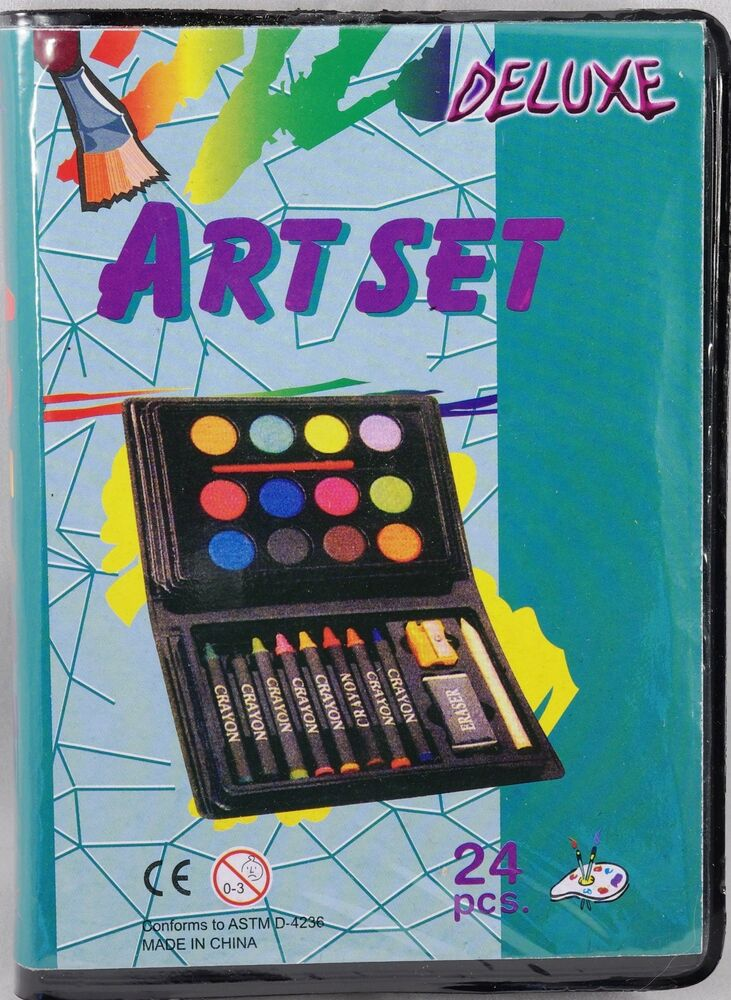 Kids crafts mini deluxe art set 24 pc ebay for Arts and crafts sets for toddlers