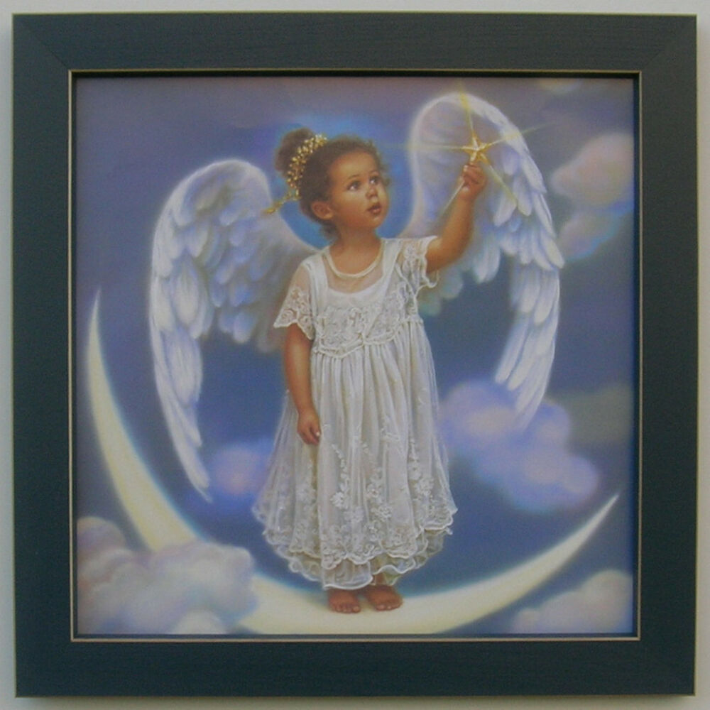 Home Interior Pictures: Country Little Angel 12 X 12 Framed Country Picture Print