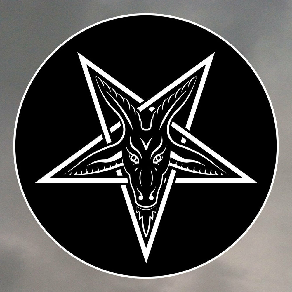 Pentagram Stickers Various Sizes Available Baphomet