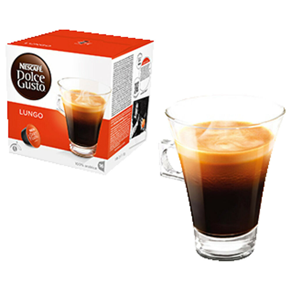 dolce gusto lungo kaffeekapseln nescaf dolce gusto ebay. Black Bedroom Furniture Sets. Home Design Ideas
