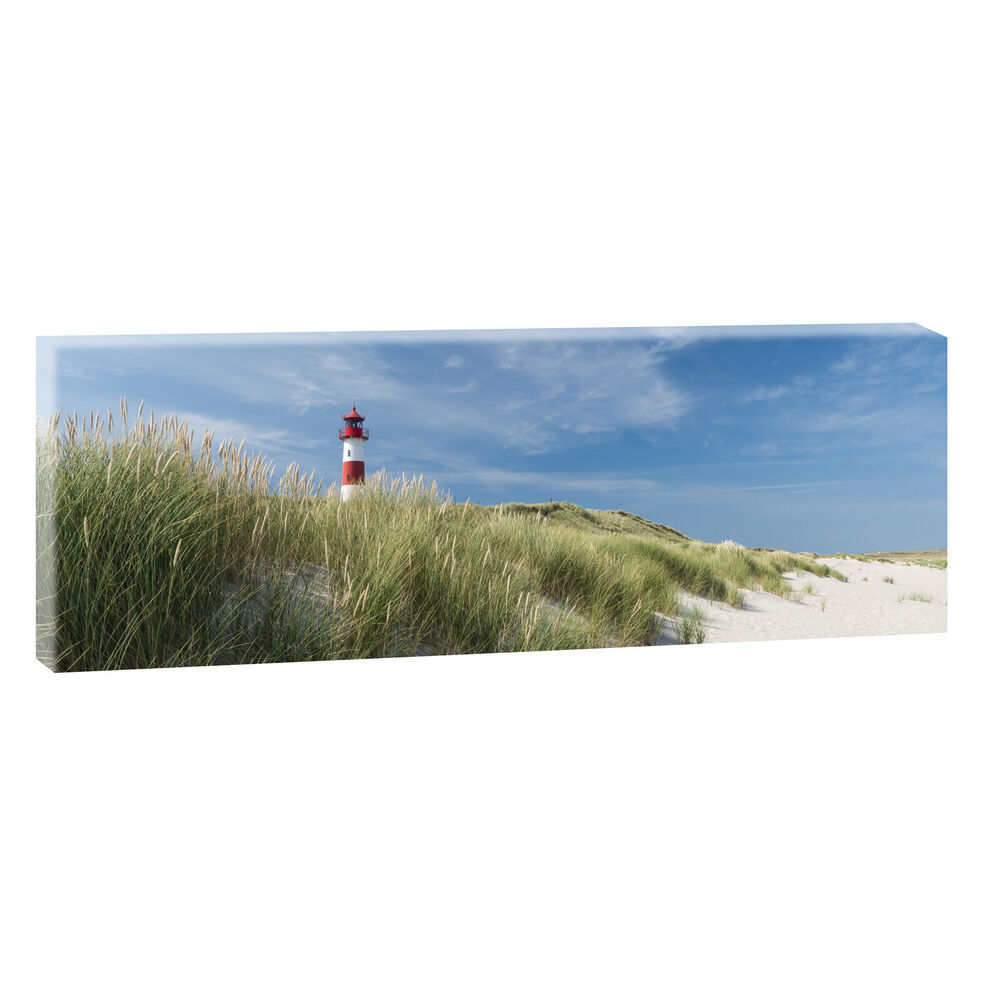sylt panoramabild leinwand keilrahmen meer strand poster xxl 120cm 40cm 498 ebay. Black Bedroom Furniture Sets. Home Design Ideas