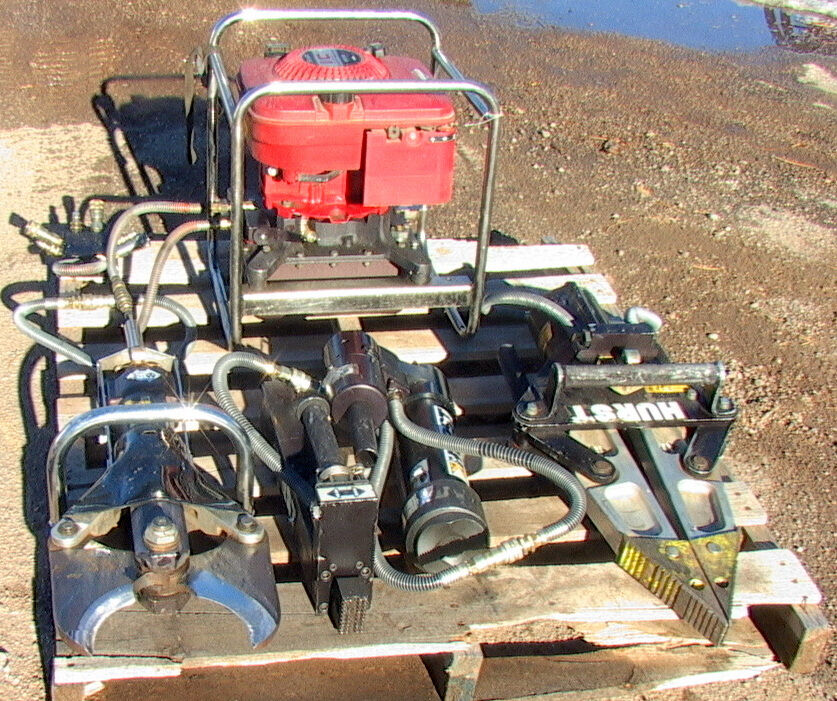Complete 10 Piece Hurst Jaws Of Life Rescue System Power