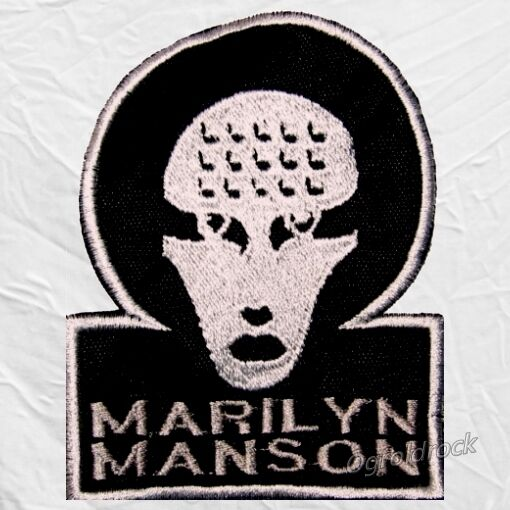 Marilyn Manson Omega Logo Embroidered Patch Mechanical ...